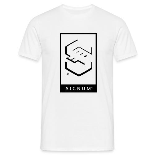 signumGamerLabelBW - Men's T-Shirt