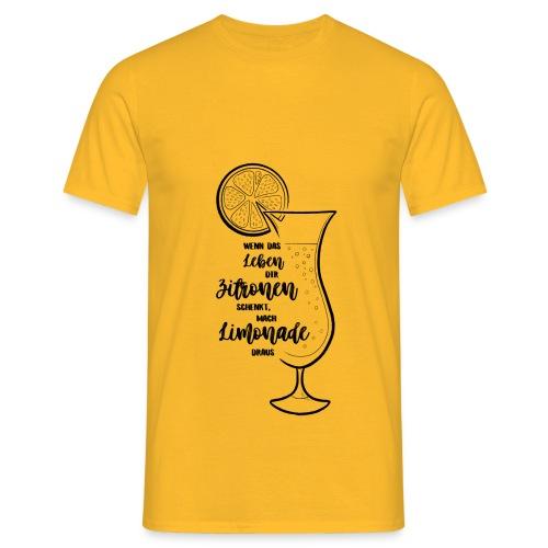 Wenn das Leben dir Zitronen schenkt - Illustration - Männer T-Shirt