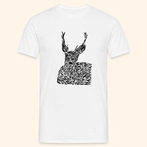 deer black and white - Miesten t-paita