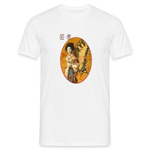 Vintage Japanese Geisha Oriental Design - Men's T-Shirt