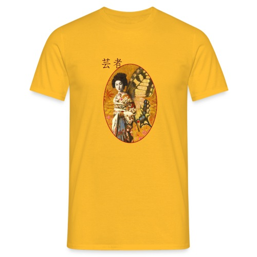Vintage Japanese Geisha Oriental Design - Men's T-Shirt