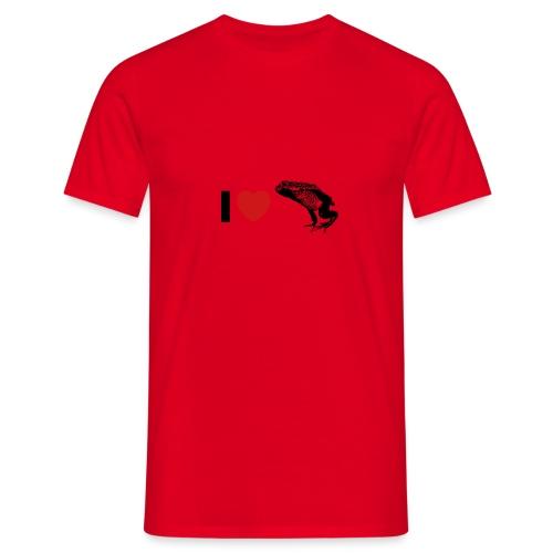 I ❤️ Pfeilgiftfrosch - Männer T-Shirt