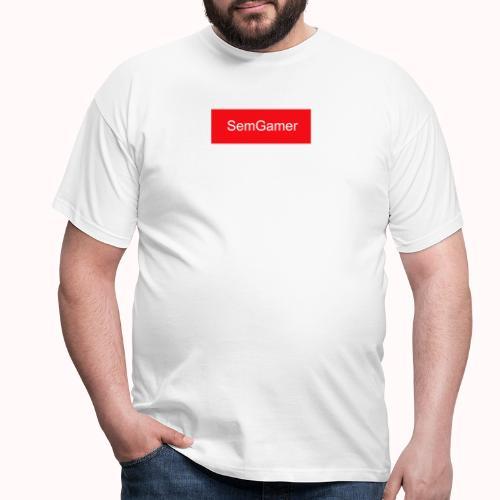 SemGamer in rood vak - Mannen T-shirt