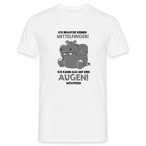 Nilperd braucht keinen Mittelfinger - Männer T-Shirt