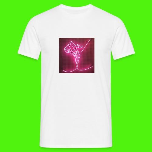 T-shirt med neon hand - T-shirt herr