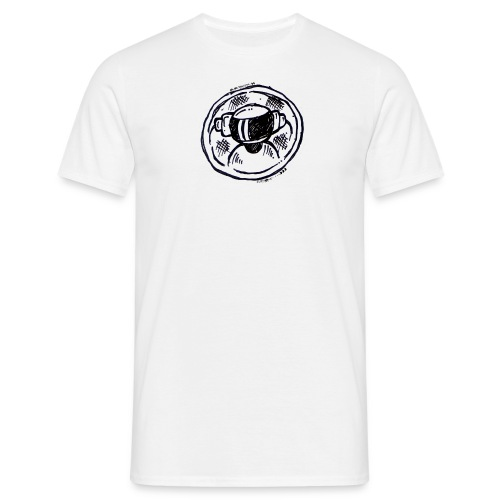 Machine Boy Ruff White - Men's T-Shirt