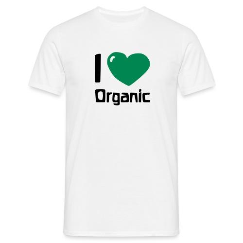 I love Organic - Männer T-Shirt