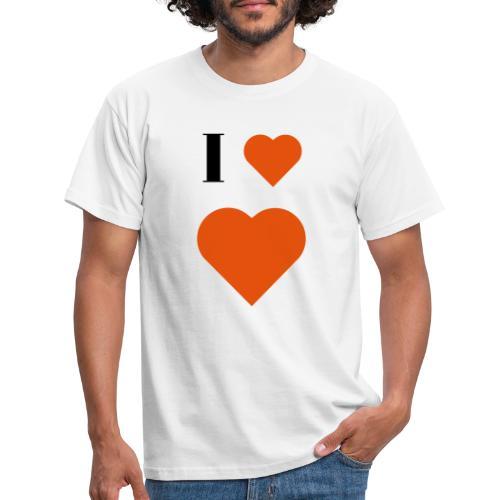 I Heart heart - Men's T-Shirt