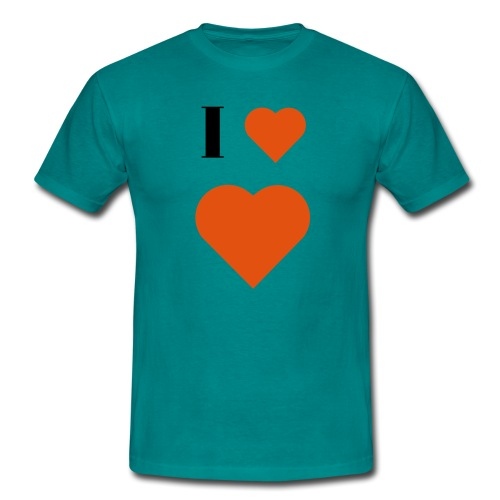 I Heart heart - Men's T-Shirt