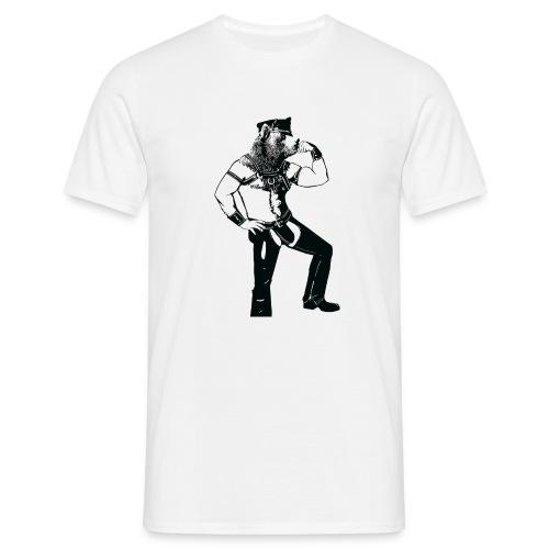 Grrr leather bear - T-shirt Homme