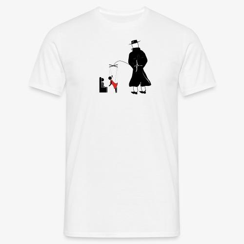 Pissing Man against forced prostitution - Männer T-Shirt