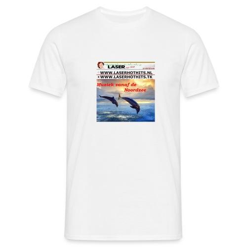 Dolfijn en Laserbanneroldiestationtshirt - Mannen T-shirt