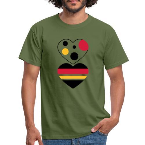 due cuori - Maglietta da uomo