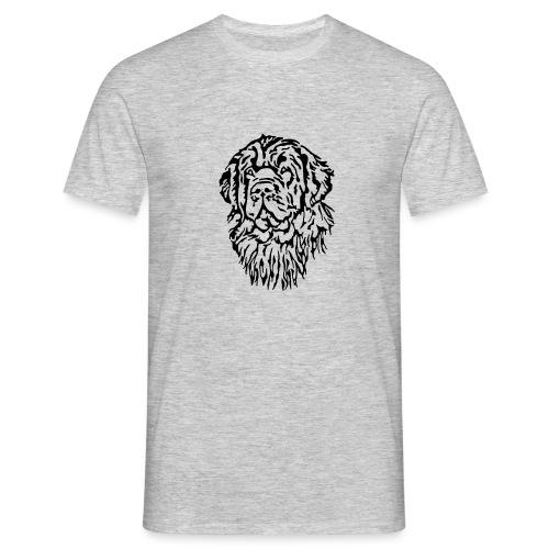 Neufundländer Kopf - Männer T-Shirt