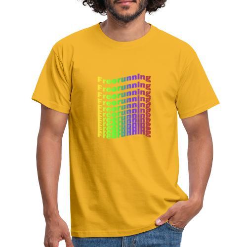 Freerunning Rainbow - Herre-T-shirt