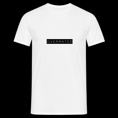 Overrated Black white - Mannen T-shirt