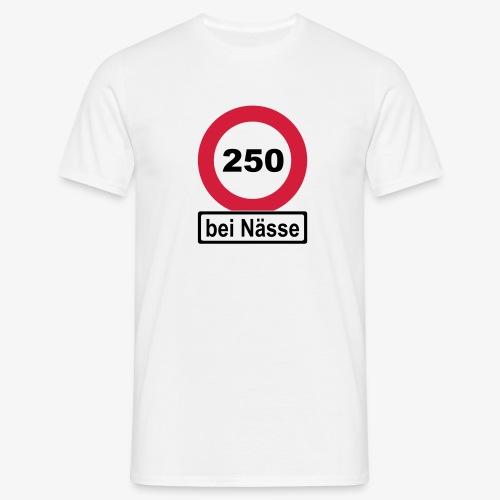 250 bei Nässe zweifarbig - Männer T-Shirt