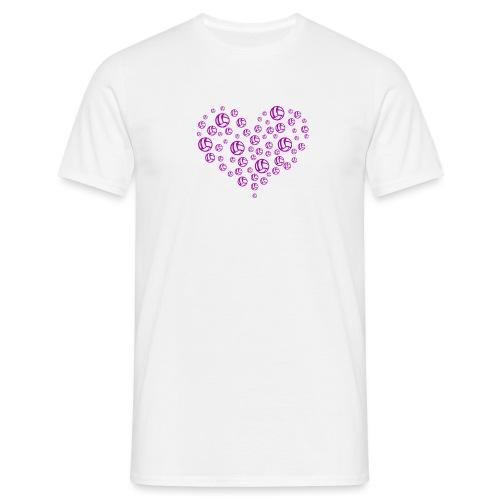 Volleyball Heart - Camiseta hombre