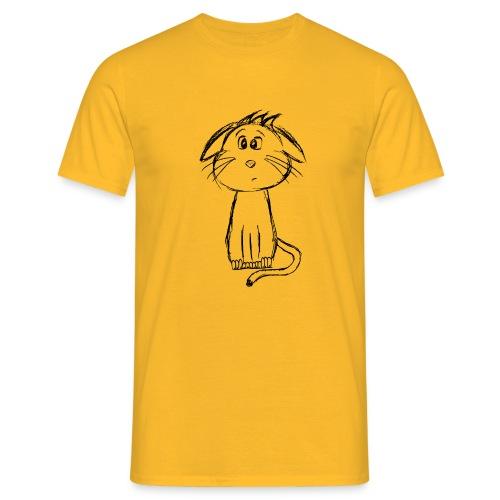 Kissa Kissanpentu musta scribblesirii - Miesten t-paita