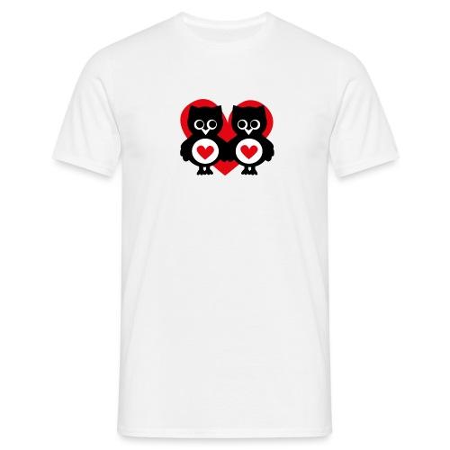 verliebte Eulen - Männer T-Shirt