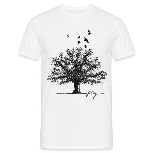 Tree Black - Mannen T-shirt