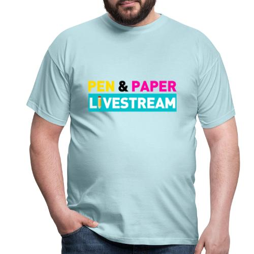 internerd.TV - Pen and Paper Livestream - Logo - Männer T-Shirt