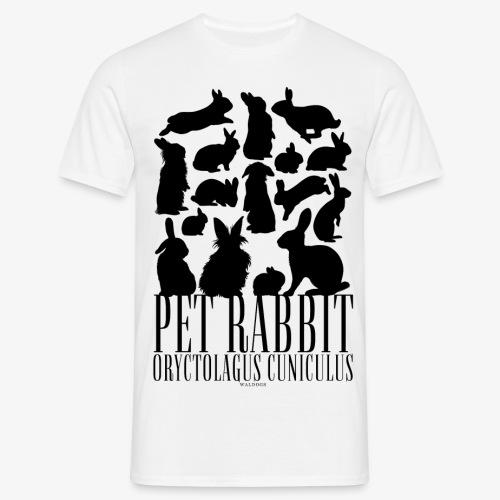 Pet Rabbit Black - Miesten t-paita