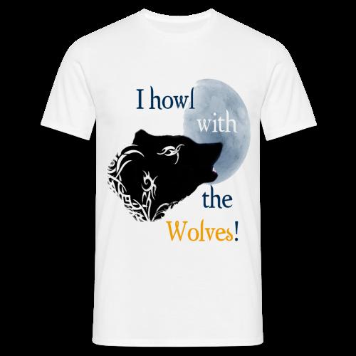 Wolf howl - Männer T-Shirt