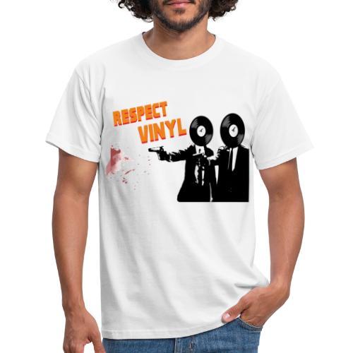 We happy • Respect Vinyl - Männer T-Shirt