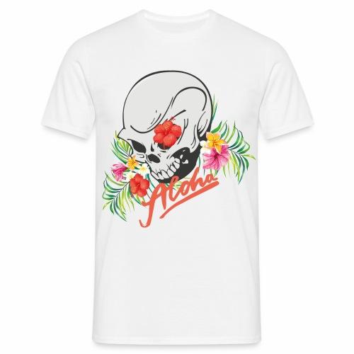 Hawaiian Skull Aloha Surfer Design - Männer T-Shirt
