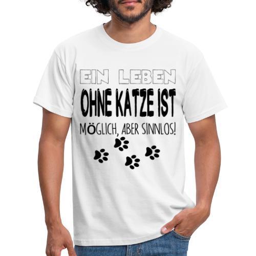 Katzen Katze Geschenk Katzenliebhaber Cat - Männer T-Shirt