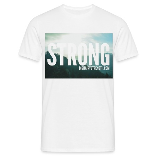 STRONG Mountain and Trees - Men's T-Shirt