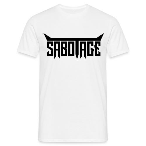 Logo - Zwart op Wit - Mannen T-shirt