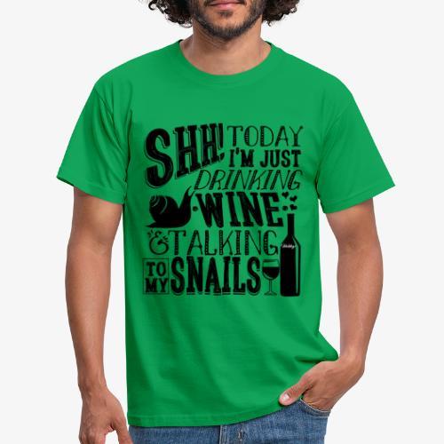 SHH Snails Black - Miesten t-paita
