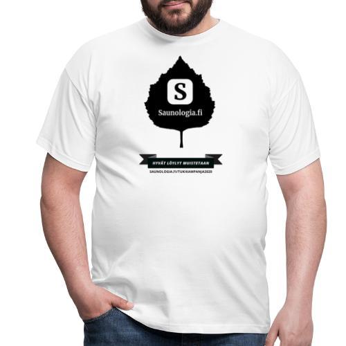 Saunologia.fi - koivun lehti - valkoinen - Miesten t-paita