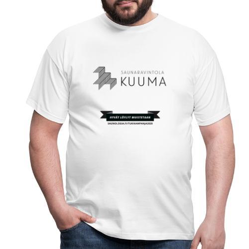 Saunaravintola Kuuma - Valkoinen - Miesten t-paita