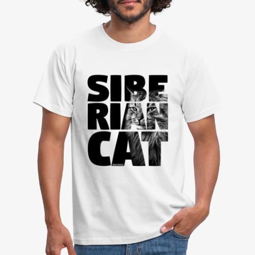 Siberian Cat Black - Miesten t-paita
