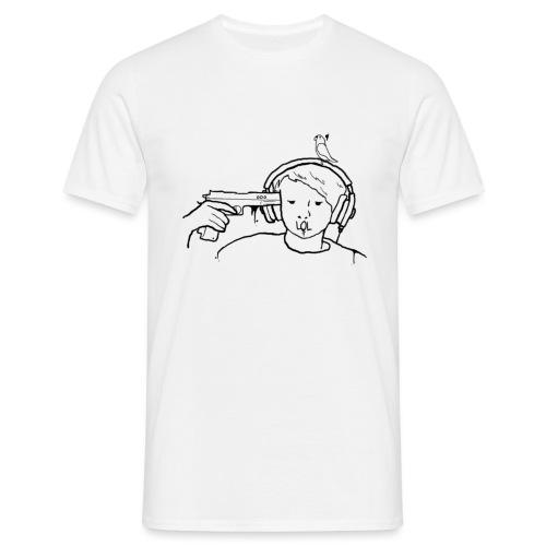kys valkoinen - Miesten t-paita