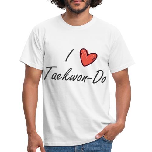 I love taekwondo letras negras - Camiseta hombre