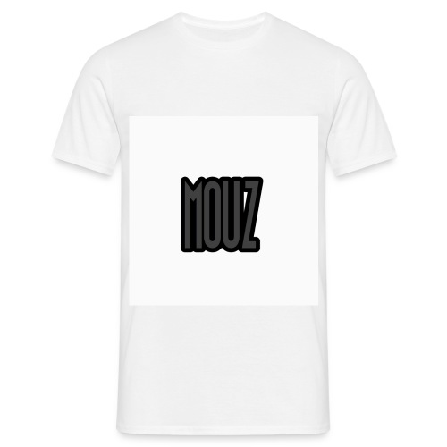 Mouz Black and Grey Design - Men's T-Shirt