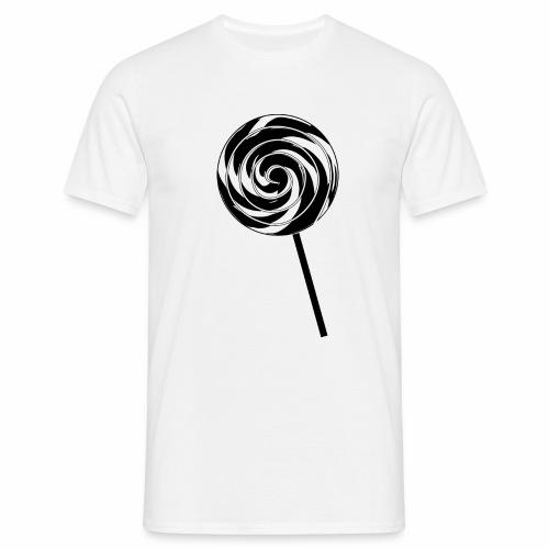 Retro Lutscher - Lollipop Design - Schwarz Weiß - Männer T-Shirt