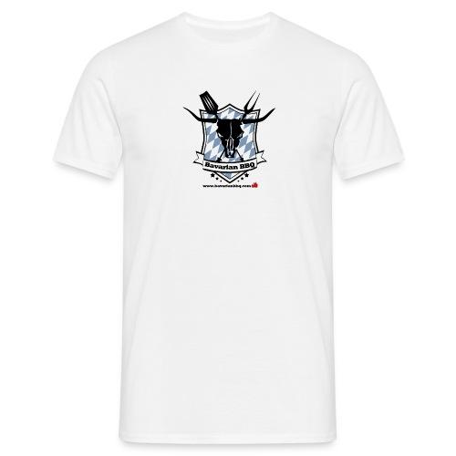Bavarian BBQ Logo - Männer T-Shirt