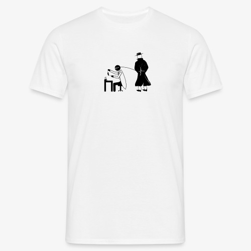 Pissing Man against animal testing. - Männer T-Shirt