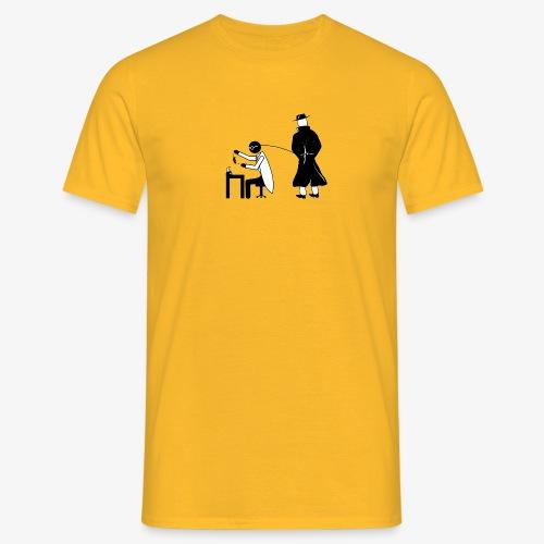 Pissing Man against animal testing. - Männer T-Shirt