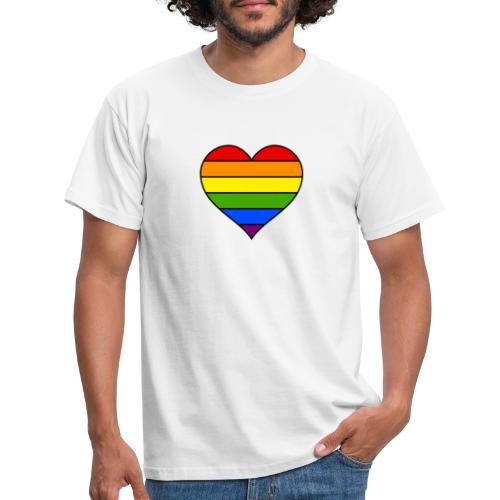 Rainbow Heart - Mannen T-shirt
