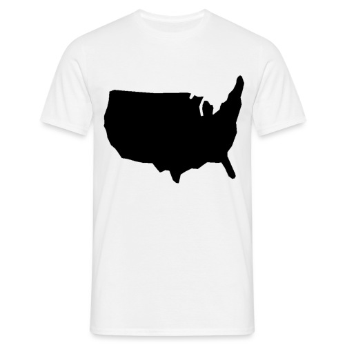 USA 2400px png - Miesten t-paita