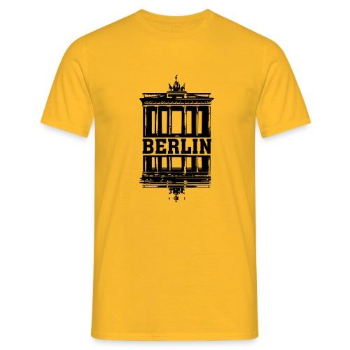 Berlin Brandenburger Tor Wasserspiegelung cool - Männer T-Shirt