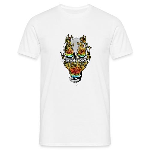 Burning Head - Männer T-Shirt