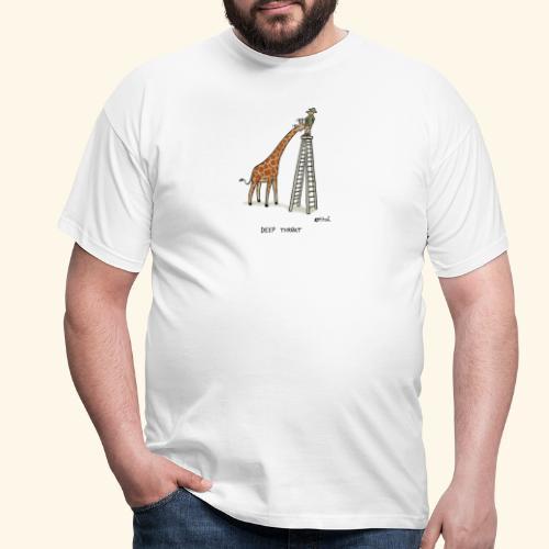 Giraffenblowjob - Männer T-Shirt