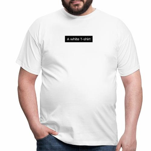A white T-shirt - T-shirt herr